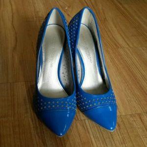 💟💟Christian Siriano 💟💟Blue heeled shoes